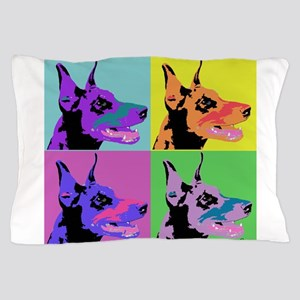 Doberman Pop Art Pillow Case